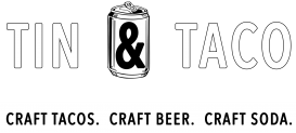 Tin and Taco White logo