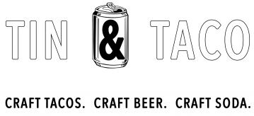 Tin and Taco White logo